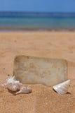 Старое фото на seashore Стоковое Изображение RF