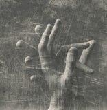 Старое фото рук стоковая фотография rf