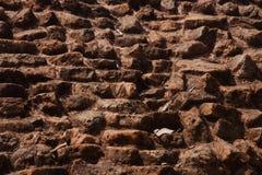 Старое фото стены кирпичей изолированное уникальное стоковая фотография rf