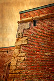 Старое фото с деталью крепостной стены 4 Стоковое фото RF