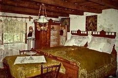 Старое фото с немецким традиционным домашним интерьером в Banat, Romani Стоковая Фотография RF