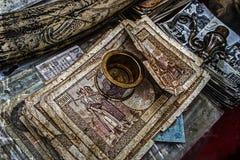 Старое фото с старыми счетами Стоковые Фото