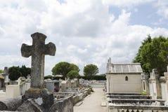 Старое французское кладбище Стоковое Изображение