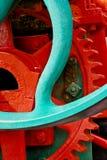 Старое цепное колесо промышленного машинного оборудования Стоковое фото RF
