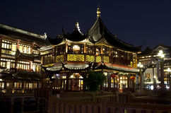 Старое Шанхай на ноче Стоковые Изображения RF
