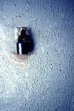 старое шелушение краски padlock Стоковые Фото