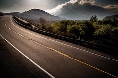 Старое шоссе 138 Стоковая Фотография