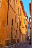 Старое bystreet в Флоренсе, Тоскане, Италии Стоковые Изображения