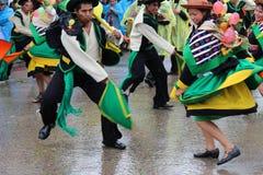 Старое folkloric huaylash танца Стоковая Фотография