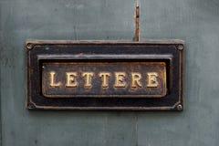 Старая коробка письма Стоковое Фото