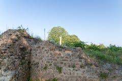 старое Nikopolis в церков preveza Греции paleochristian в замке мозаик culumns Nikolopils стоковое изображение rf