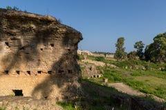старое Nikopolis в церков preveza Греции paleochristian в замке мозаик culumns Nikolopils стоковые изображения rf