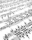 старое partiture Стоковые Изображения
