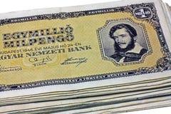 Старое pengo венгра миллиона Стоковое Фото