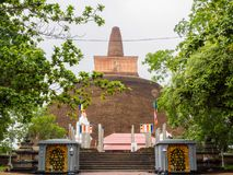 Старое stupa в Anuradhapura, Шри-Ланка Abhayagiri стоковое изображение