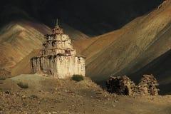 Старое stupa в Ladakh, северном Индии Стоковая Фотография RF