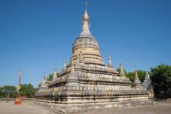 Старое stupa крупного плана Hsu Taung Pyi буддийского виска bagan myanmar Стоковая Фотография
