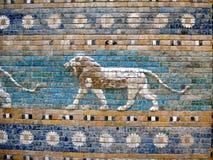Старое Sumerian искусство стены плиток Стоковая Фотография
