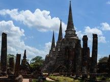 Старое wat в Таиланде Стоковая Фотография
