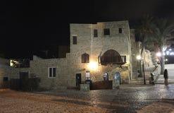 Старое Yaffo к ноча, Израиль Стоковая Фотография RF