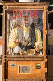 Старое Zoltar Торговый автомат на пляже Венеции, Лос-Анджелесе Стоковые Фото