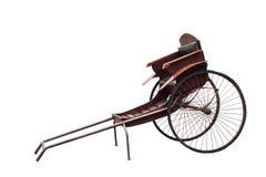 Старой винтажной китайской рикша вытягиванная рукой Стоковые Изображения