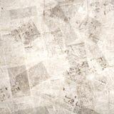 Старой винтажной предпосылка газеты grunge текстурированная бумагой квадратная стоковые фотографии rf