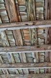 Старой крыша постриженная древесиной Стоковое Изображение RF