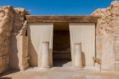 Старой Резиденции commandant на Masada стоковые фотографии rf