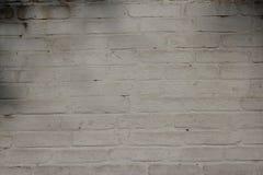 Старой текстура предпосылки wite brik покрашенная стеной Стоковые Изображения