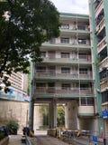 Старомодный государственный жилой фонд в Гонконге Стоковое Фото