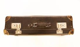Старомодный изолированный чемодан Фото сверху стоковое изображение rf