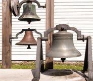 3 старомодных церковного колокола стоковое фото