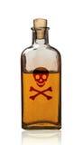 Старомодная бутылка отравы при изолированный ярлык, Стоковая Фотография RF