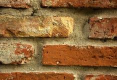 Старомодная кирпичная стена Стоковая Фотография