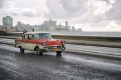 Старомодное такси Гавана Куба автомобиля 50s Стоковые Фото
