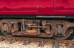 Старомодные железнодорожные колеса экипажа пассажира поезда Стоковая Фотография RF