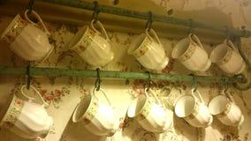 Старомодные чашки чая Стоковые Изображения