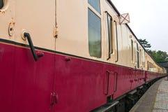 Старомодные экипажи пассажирского поезда Стоковые Фото