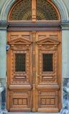 Старомодный вход парадного входа, Европа Стоковые Фотографии RF