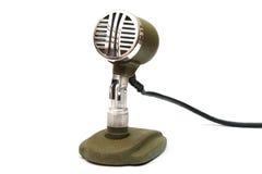 Старомодный микрофон Стоковая Фотография