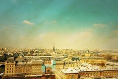 Старомодный Париж Франция стоковые фотографии rf