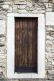 стародедовская дверь деревянная Стоковая Фотография