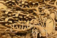 Древесина высекая от Таиланда Стоковое фото RF