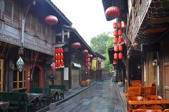 Стародедовская улица Jinli, Chengdu Стоковое Изображение