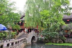 Стародедовская улица Jinli, Chengdu стоковая фотография rf