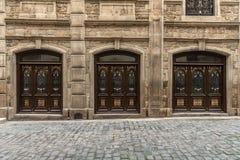 Стародедовские двери Стоковые Фотографии RF
