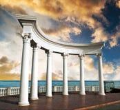стародедовские колонки греческие Стоковая Фотография