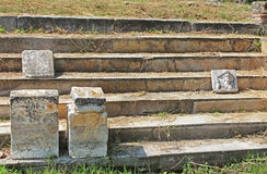 Стародедовские руины в Dion, Греции Стоковые Изображения