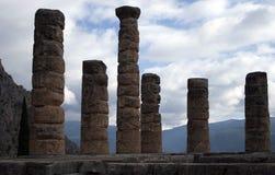 стародедовские руины музея delphi Греции Греция Стоковое фото RF